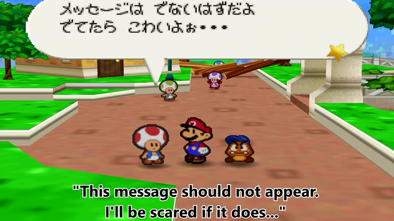 Illustration for article titled 16 Years Later, Fans Find Secret Messages Hidden In Paper Mario