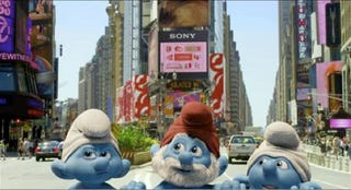 Illustration for article titled First look at the live action Smurfs