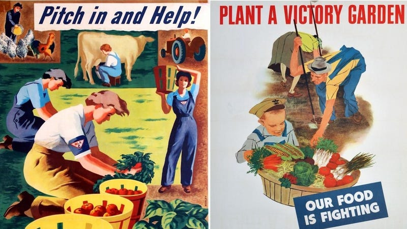Illustration for article titled These Vintage Food Propaganda Posters Will Make You Look Differently at Your Lunch