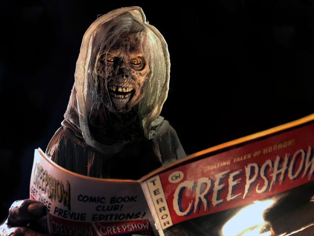 On the set and between the pages of the new Creepshow