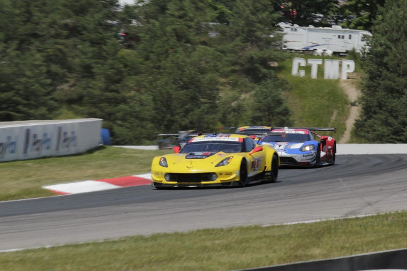 Illustration for article titled Corvette C7.R Vs. Ford GT for the last time at CTMP. (Bonus content for $kay too)