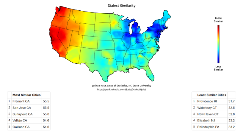 This Quiz Pinpoints Your American Dialect Down To The Town - Us dialect map quiz