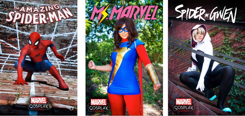 Illustration for article titled Marvel's Putting Cosplayers on the Covers of Its Biggest Comics