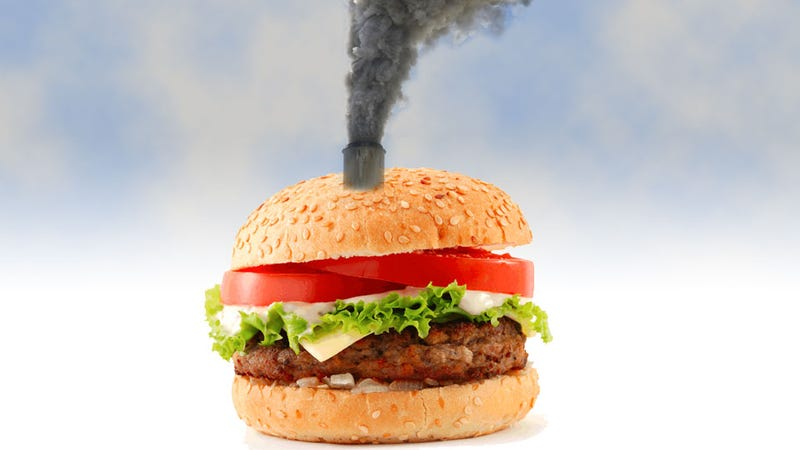 Illustration for article titled One Charbroiled Burger Pollutes As Much As An 18-Wheeler Driving 143 Miles Says Study