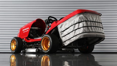 The World's Fastest Lawnmower Is Exactly as Bonkers to Drive