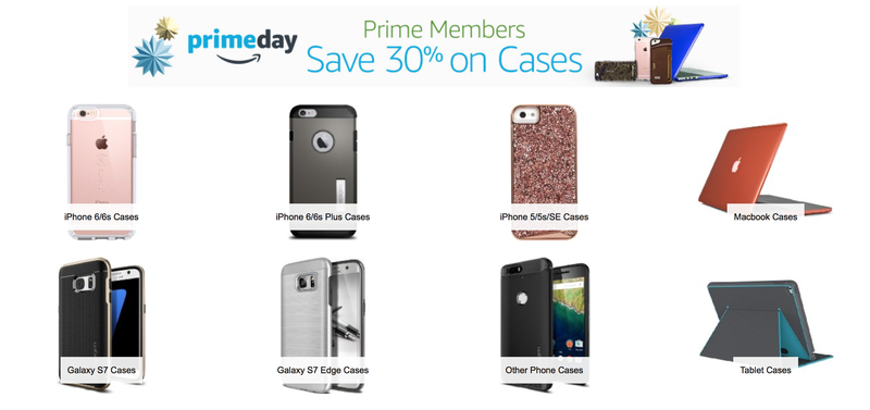 Extra 30% off gadget cases, discount shown at checkout for Prime members