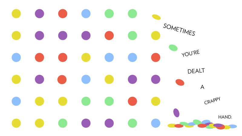 Illustration for article titled Ten Life Lessons You Learn While Playing the Dots Game on Your iPhone