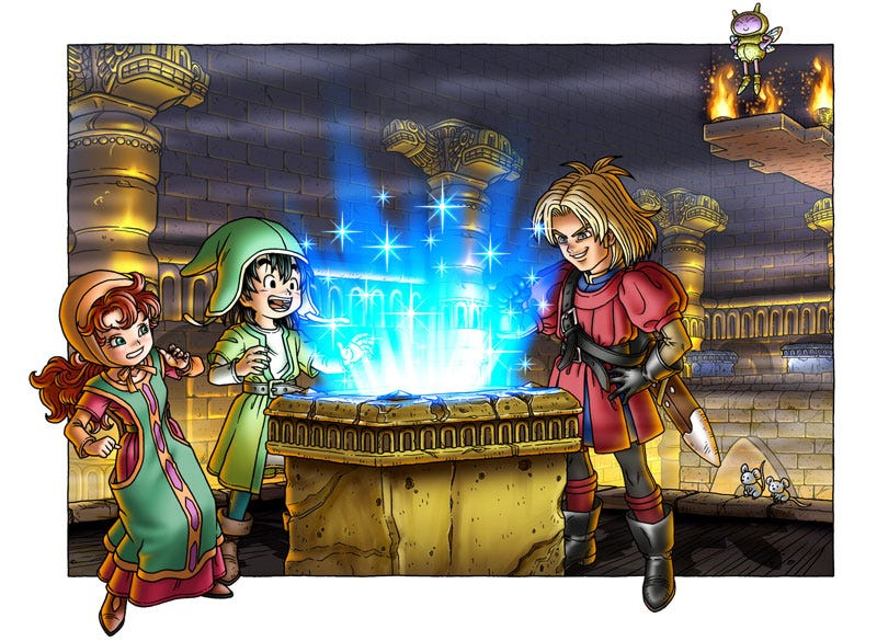 For many of Dragon Quest VII's overwhelmingly depressing storylines, I spent time saving and hanging out with people I didn't give a crap about.