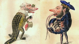 Illustration for article titled In the 1870s, Charles Darwin was the theme of a downright deranged Mardi Gras parade