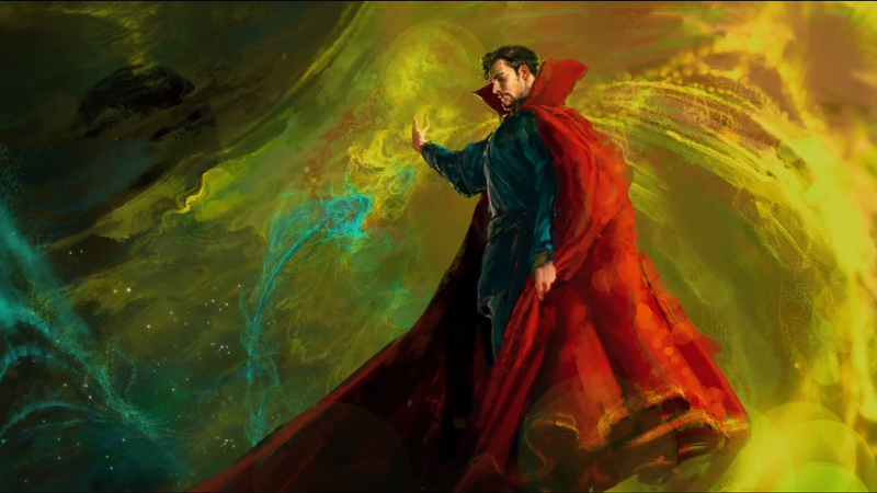 Illustration for article titled Is This Our First Fleeting Glimpse At What Benedict Cumberbatch Will Look Like In Doctor Strange?