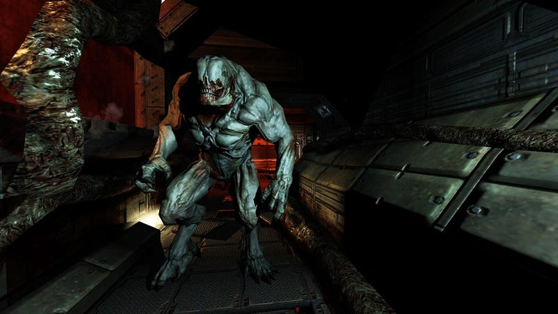 Illustration for article titled Doom 3's Graphically Enhanced Monsters Are Pretty Damn Ugly