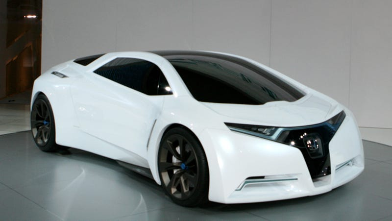 Attrayant ... With The Release Of The Radical And Futuristic Honda FC Sport, A  Three Seat Hydrogen Powered Design Study That Hints At The Future Of Honda  Sports Cars ...