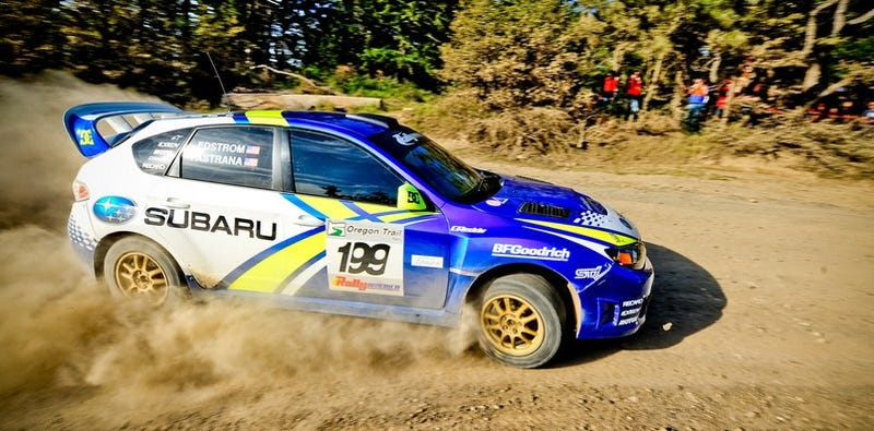 Illustration for article titled Travis Pastrana Wins 2009 Oregon Trail Rally