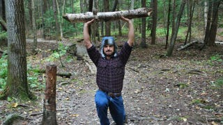 Illustration for article titled Exercise Outdoors with the Woodsman Workout