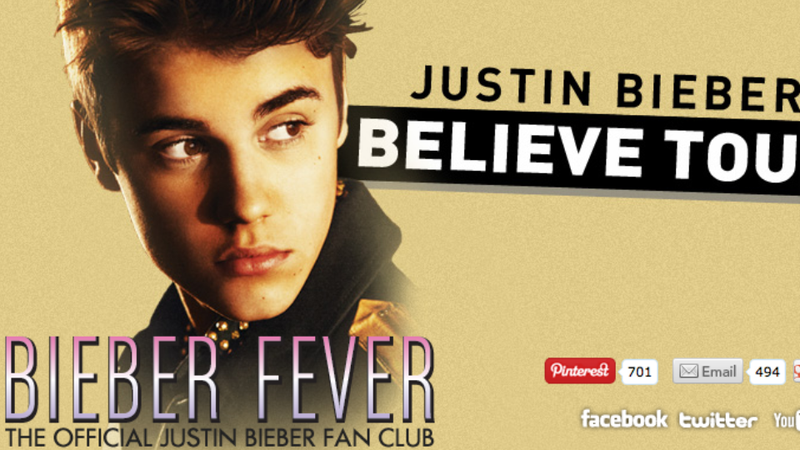 Illustration for article titled Justin Bieber's Fan Site Allegedly Stole Your Kids' Personal Information
