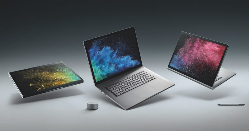 Microsoft presentó su nueva notebook convertible Surface Book 2