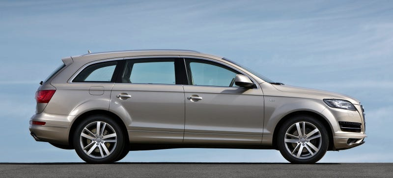 One of the relevant Audis: a Q7 with the 3.0 liter V6 and eight-speed automatic. Photo Credit: Audi