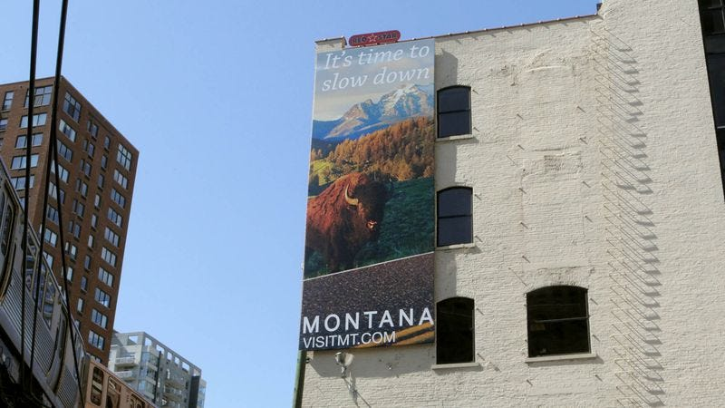 Illustration for article titled New Montana Tourism Campaign Marketed Toward Urban Bison