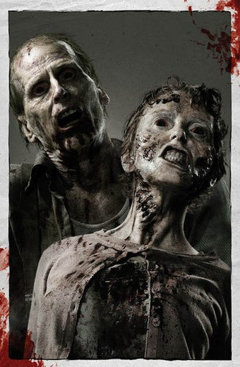 Illustration for article titled Sneak peek at Walking Dead footage left us hungry for more