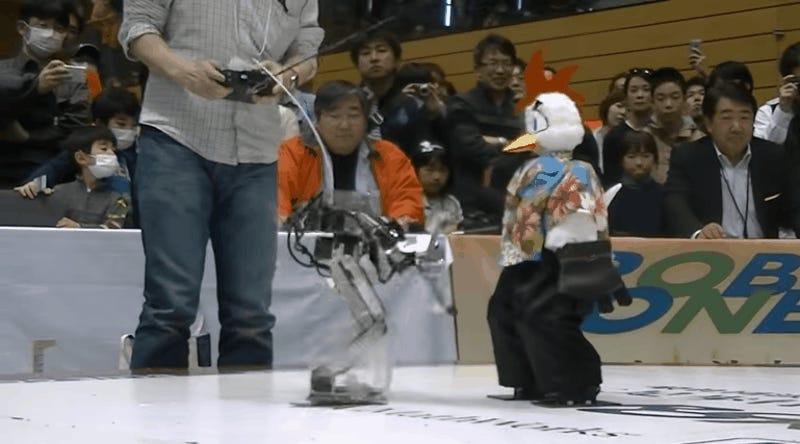 Cientos de robots participaron en el torneo mundial de lucha libre robótica en Japón