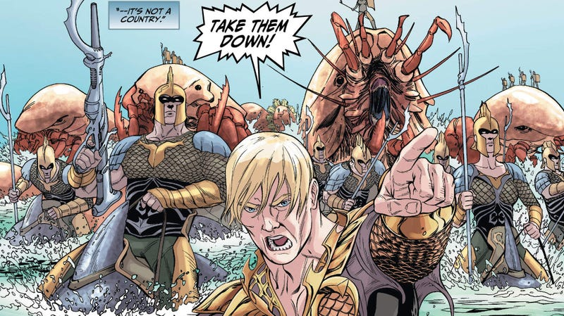 Illustration for article titled Aquaman Isn't Happy In This Preview of Next Week's  Injustice #4