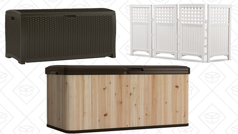 Suncast Deck Box Gold Box | Amazon Graphic: Shep McAllister