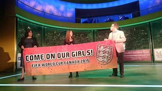 Illustration for article titled Banner Urges England's World Cup Fans To Come On Their Girls