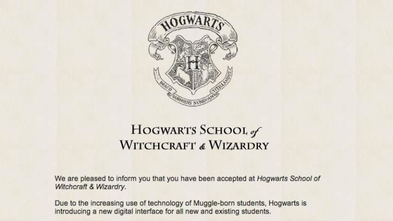 Illustration for article titled The Hogwarts School of Witchcraft & Wizardry is accepting students online