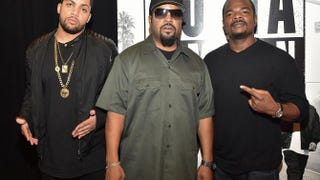 O'Shea Jackson Jr., producer Ice Cube and director-producer F. Gary Gray attend the Straight Outta Compton VIP screening at Regal Atlantic Station in Atlanta July 24, 2015.Paras Griffin/Getty Images for Universal Pictures