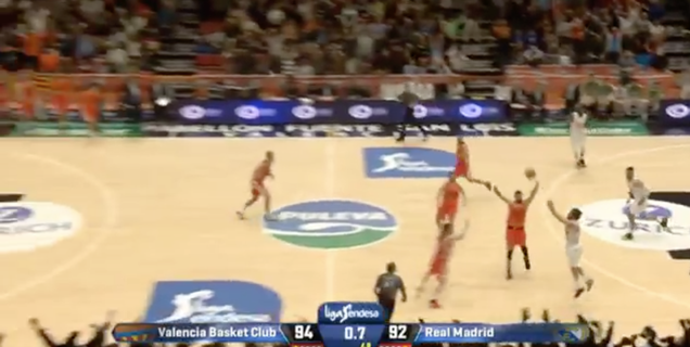 Sergio Llull Swishes Buzzer-Beater From The Opposite Three-Poin…