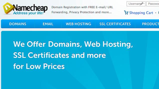 most popular domain name registrar namecheap