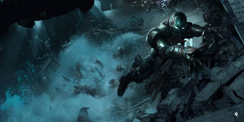 Illustration for article titled Eye-Popping Iron Man 3 Concept Art From The Big Malibu Attack Scene