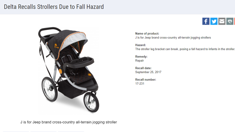 Maybe Check if Your Jogging Stroller Is Among These 28,000 Recalled Ones