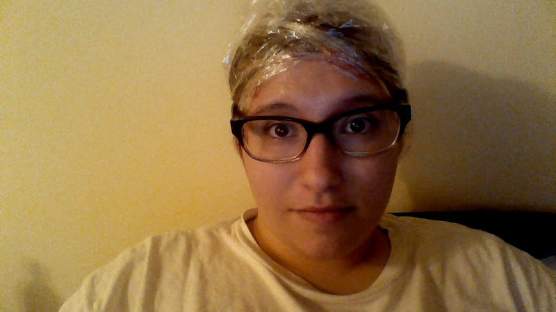 Illustration for article titled I have saran wrap on my head