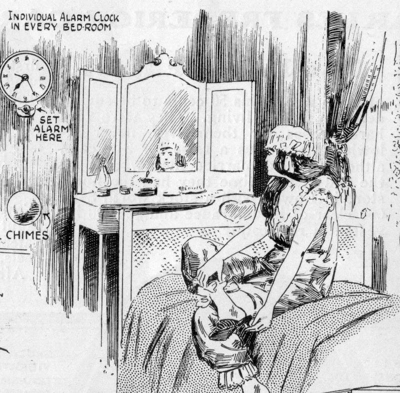 Illustration for article titled The High Tech Hotel of 1921 Had an Alarm Clock In Every Room