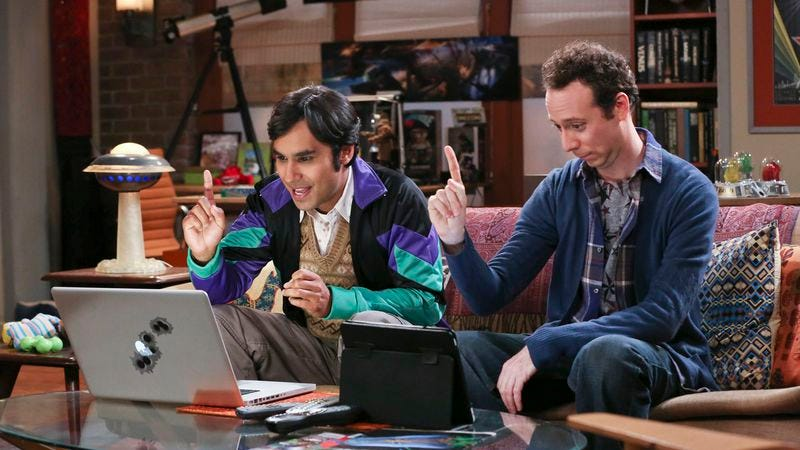 """Illustration for article titled The Big Bang Theory: """"The Raiders Minimization"""""""