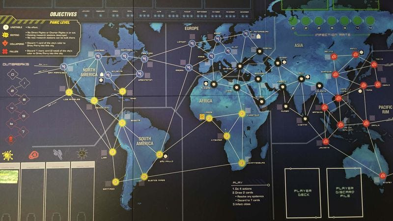 The Pandemic: Legacy board