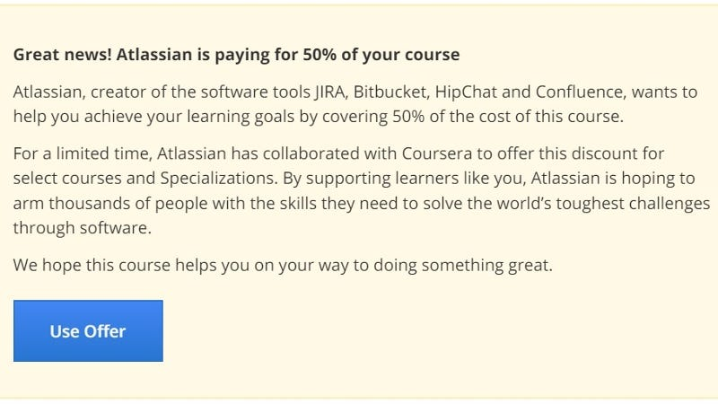 Illustration for article titled Get 50% Off Any Coursera Computer Science Class for a Limited Time
