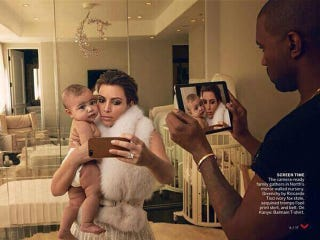 Illustration for article titled Spot Everything Wrong With This Photo of Kanye Taking an iPad Pic