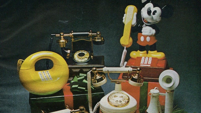 Illustration for article titled 12 Days of Christmas Presents Past: A Landline Phone Shaped Like Mickey Mouse