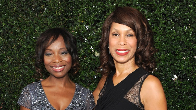 Channing Dungey (right) at the 2014 Emmy Awards