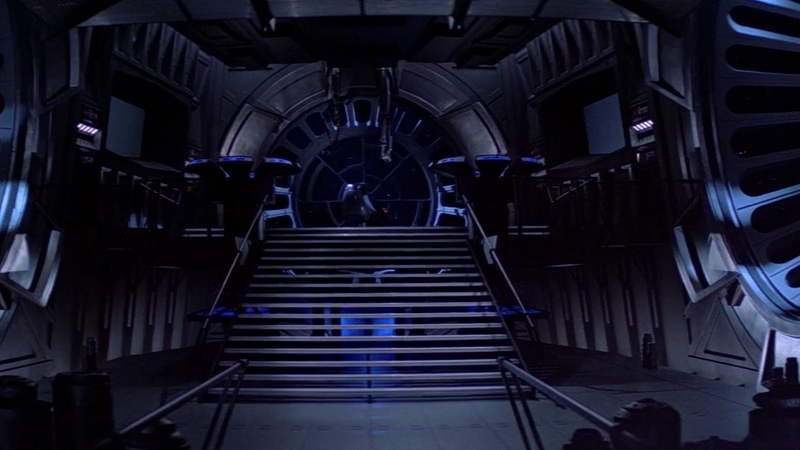 The throne room of Return of the Jedi, one of its best pieces of visual design.