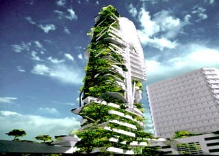 Illustration for article titled Plants Invade Singapore Skyscraper