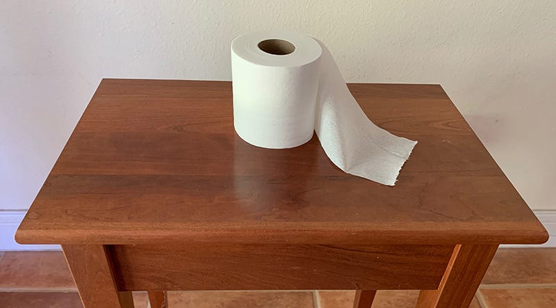 How much toilet paper do you need for a hurricane?