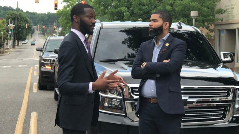 Birmingham, Ala., Mayor Randall Woodfin and Jackson, Miss., Mayor Chokwe Antar Lumumba
