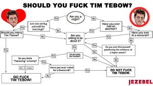 Illustration for article titled Should you have sex with Tim Tebow?