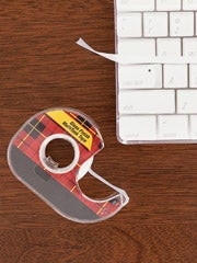 Illustration for article titled MacGyver Tip:  Clean your keyboard with tape