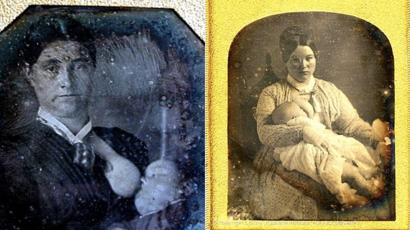Illustration for article titled Victorian Moms Loved to Be Photographed Breastfeeding