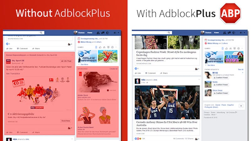 Illustration for article titled Adblock Plus Already Has a Workaround for Facebook's Adblock Blocker