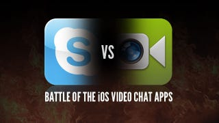 Illustration for article titled Battle of the iOS Video Chat Applications: FaceTime vs. Skype